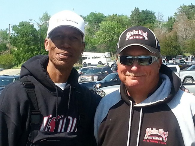 Me and Denny Brauer at the FLW EverStart on Lake Texoma - Copy